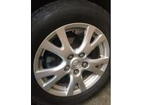 "Mazda 6 Alloys wheels 16"" with new tyres"