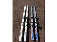 2 pairs of skis - K2 and Dynastar including Sticks