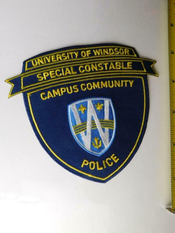POLICE UNIVERSITY OF WINDSOR SPECIAL CONSTABLE CAMPUS PATCH VINTAGE BADGE ONT