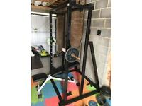 Smiths machine and weight bench