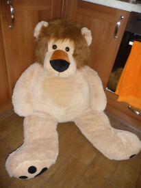 HUGE Brown Big Lion SOFT TOY TEDDY Plush 85cm Long LARGE GIANT Kid Girl Boy Gift