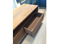 CRATE & BARREL - TV Stand / Media Console / Unit - Solid Walnut Wood - Excellent Condition