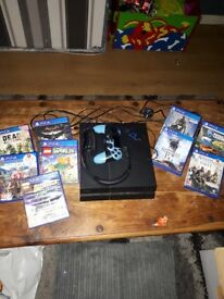 ps4 console with box controller 9 games and headset i want 220 ono