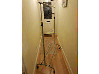Adjustable Height Clothes Tidy Hanging Rail On Wheels
