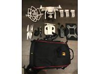 ✈️ DJI Phantom 3 Pro 4K Drone + 3 Batteries + Camera Backpack + Loads Accessories