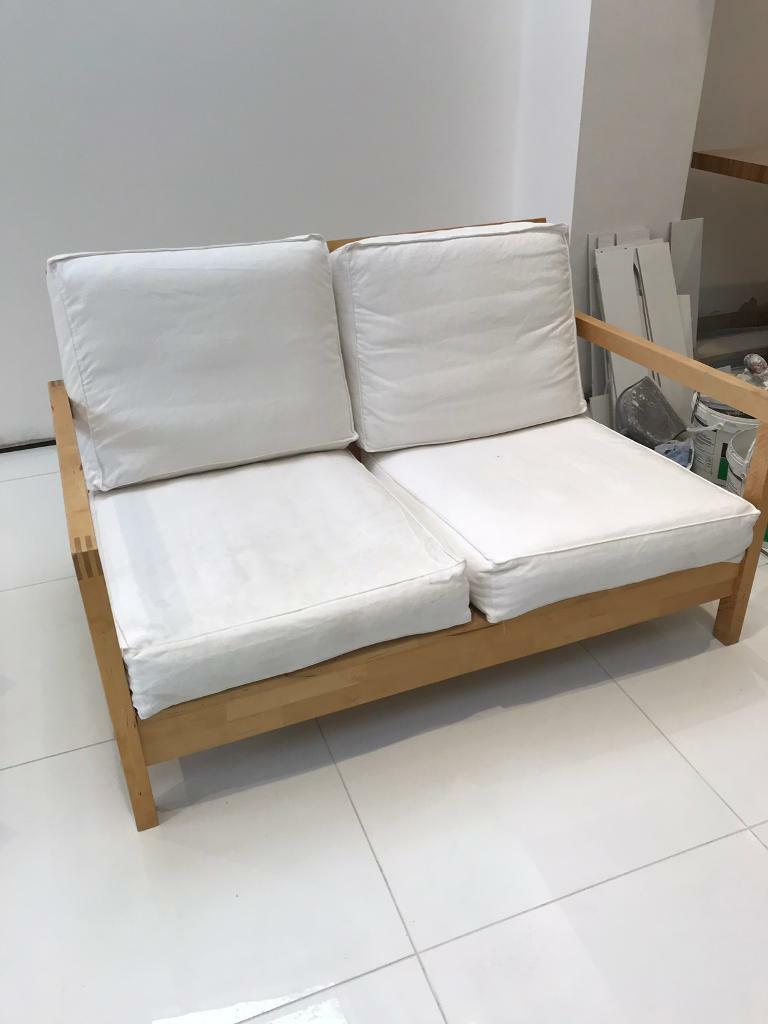 Ikea Wooden Frame Sofa 2 Chairs And