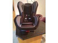 Elite isofix black shadow car seat