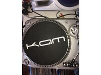 Kam direct drive turntables numark mixer