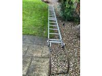 Roof ladder 18 rungs, 5.4M, wheels broken