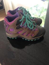 Girls Merrell walking boots
