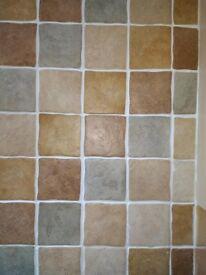 92 Multi coloured tiles