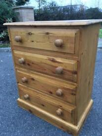 Solid pine Chest dovetail joints