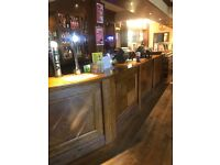 Bar and waiting staff sought after, full and part-time opportunities available