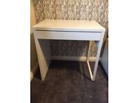 IKEA Micke Childs Computer Desk with draw - White