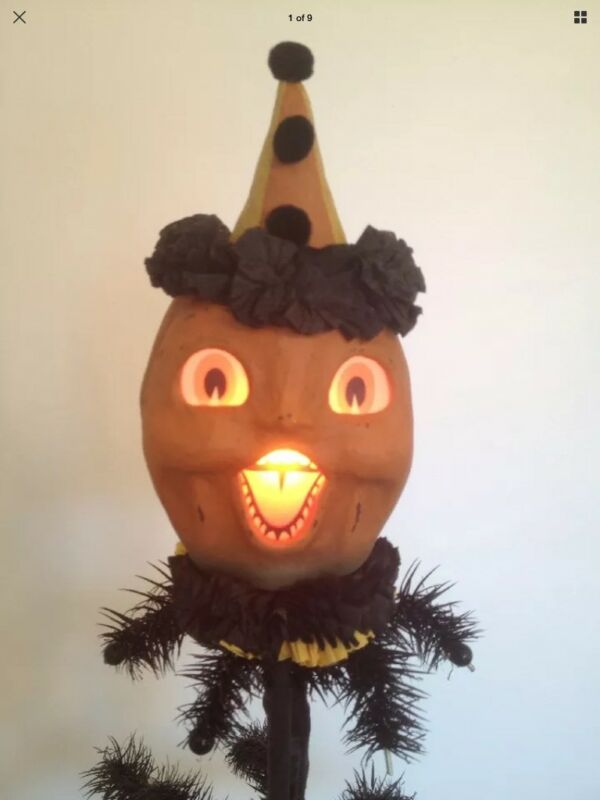 Bethany Lowe Halloween Happy Pumpkin Mask--Small Size--Retired