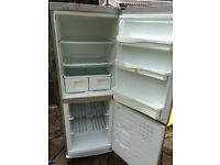 Silver indesit fridge freezer
