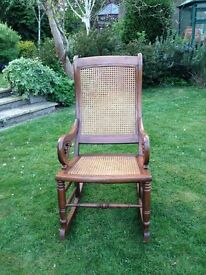 Rocking Chair - Lincoln Style, Ornate Arm Rests & Top. Reduced to £50