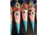 Sweet cones - great for birthdays, christenings, baby shower etc