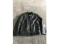 Zara leather look fleece lined jacket age 7