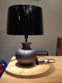 Table lamp and brand new lampshade (still in plastic wrapping)