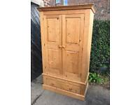 Solid pine wardrobe (local delivery available)