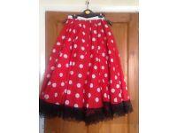 20s Polkadot Skirt (red)