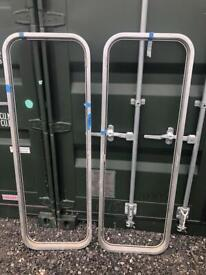 Aluminium internal door frames boat or camper van