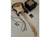 Outstanding electric guitar with fantastic Amp, Picks, Tuner, Strap and soft case.