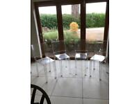 Kartell La Marie crystal chairs x4