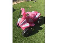 Girls Roadsterz 6V Electric Ride On Quad Bike (RRP £70)