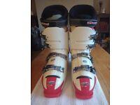 ROSSIGNOL FREE RIDE X Men's White and Red Ski Boots plus Ellis Brigham Boot Bag