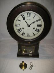 Vintage Original Linden 31 Day Wind Up Wall Clock, Korea,  With Key ~ Works