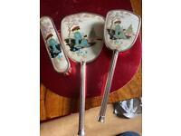 orientel dressing table mirror & 2 brushes