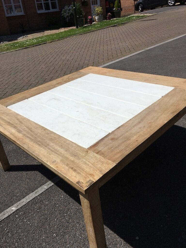 Coffee table for salein Petworth, West SussexGumtree - Coffee table for sale, painted wood centre, the table has marks on it and has been used but still usable and good for a make over project
