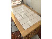 Tiled Kitchen Table