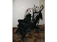 MY CHILD SIENTA DUO TANDEM DOUBLE UMBRELLA FOLD PUSHCHAIR BUGGY IMMACULATE