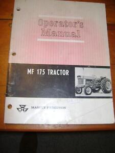 Massey Ferguson - MF 175 Tractor Operators Manual