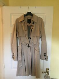 Ted Baker Beige Coat Excellent condition Size 8 (Ted Baker size 1)