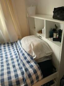 John Lewis single bed frame with storage headboard