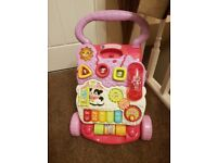 Vtech pink baby walker. Like new. From smoke and pet free home