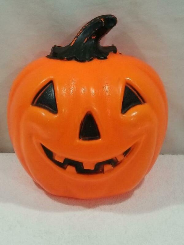 "Vintage 12"" Half Pumpkin Halloween Blow Mold   FREE USA SHIP"