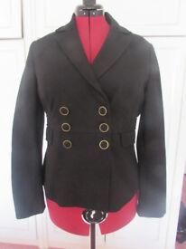 Monsoon Black military style fully lined jacket Size 16 BNWOT