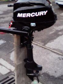 MERCURY 2.5 4 STROKE BOAT OUTBOARD 2010 AS NEW