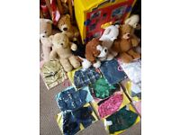 Huge lovely collection of build a bear workshop wardrobe bears clothing and accessories
