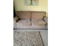 Sofaworks fabric 3 seater sofa and chair in brown