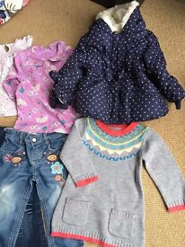 Bundle of girl's clothing aged 12-18 months 1-1.5 years