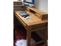 Large wooden desk with desk tidy keyboard drawer. Very good condition, ideal for home office.