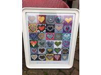 Framed heart print