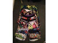 4 Pairs of snazzy swim shorts bermuda type 32 waist