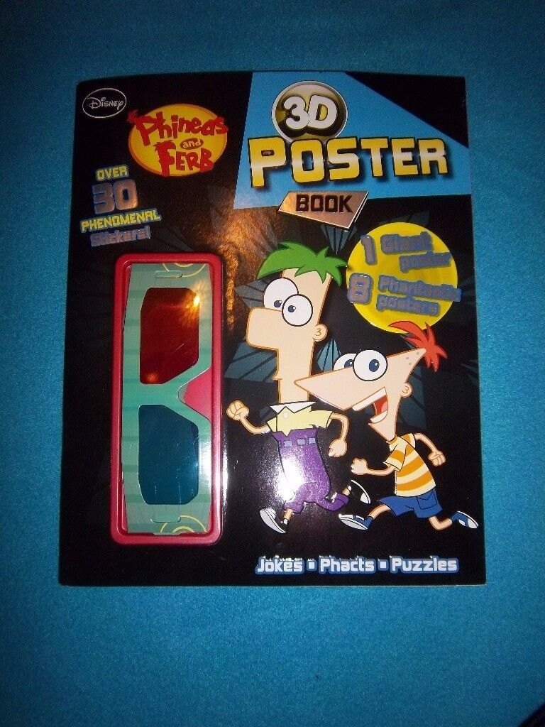 New Phineas & Ferb 3D Poster Book IP1